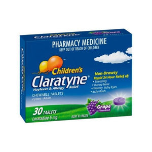 Claratyne Child Chew Grape Tablets