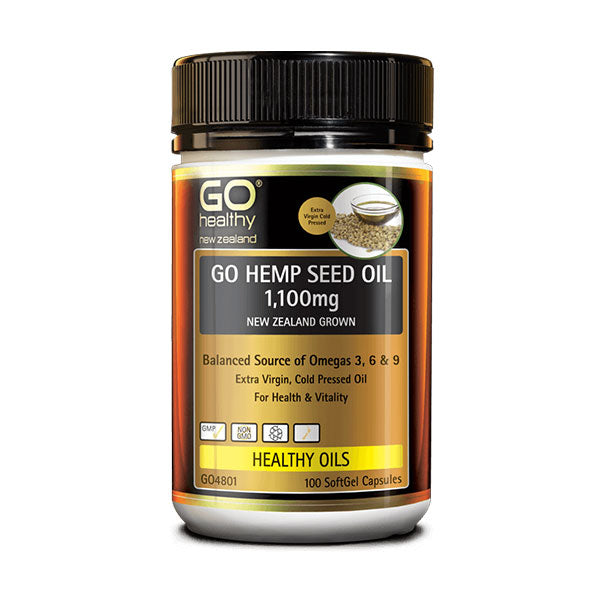 Go Hemp Seed Oil 1,100mg 100 Caps