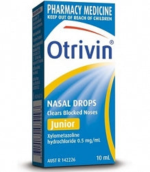 Otrivin Junior Nasal Drops 10ml