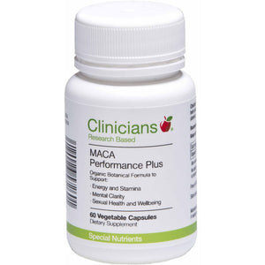 Clinicians Maca Performance Plus 60 Capsules