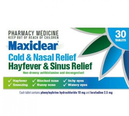 Maxiclear Hayfever and Sinus 30 Tablets