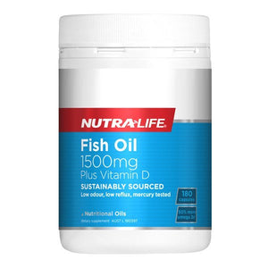 Nutra Life Fish Oil 1500mg Plus Vitamin D