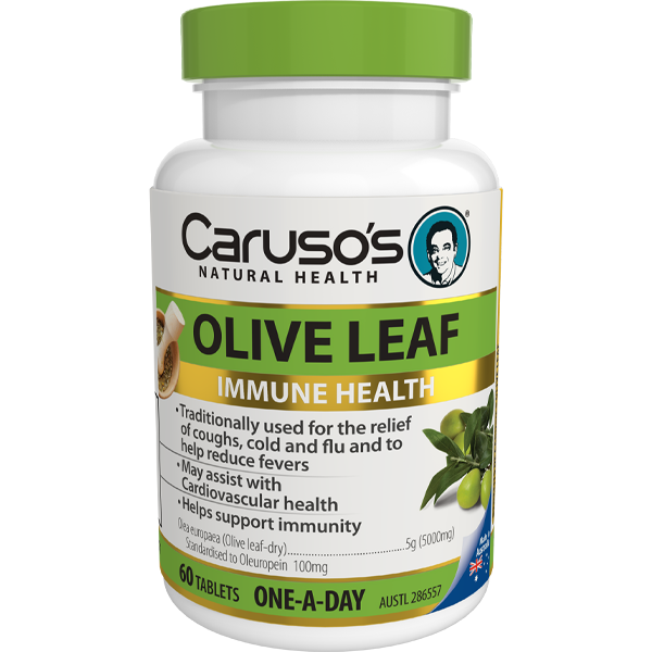 Carusos Natural Health  1 a Day Herb - Olive Leaf 60s NZ