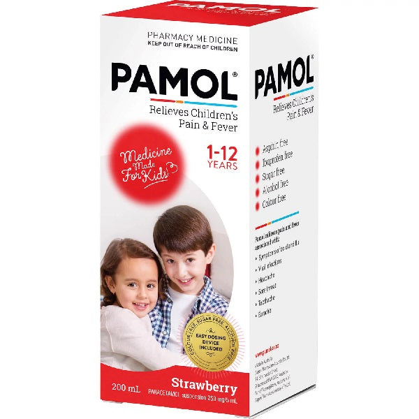 Pamol All Ages Strawberry