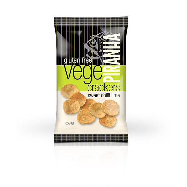 Piranha Vege Cracker Sweet Chilli Lime 100g