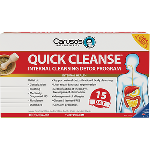 Carusos Natural Health Quick Cleanse 15Day Detox Program