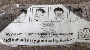 N95 Respirator Mask (x1) Individually wrapped