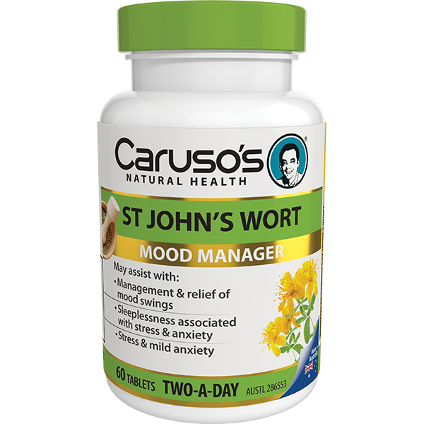 Carusos Natural Health 2 a Day Herb - St Johns Wort 60s