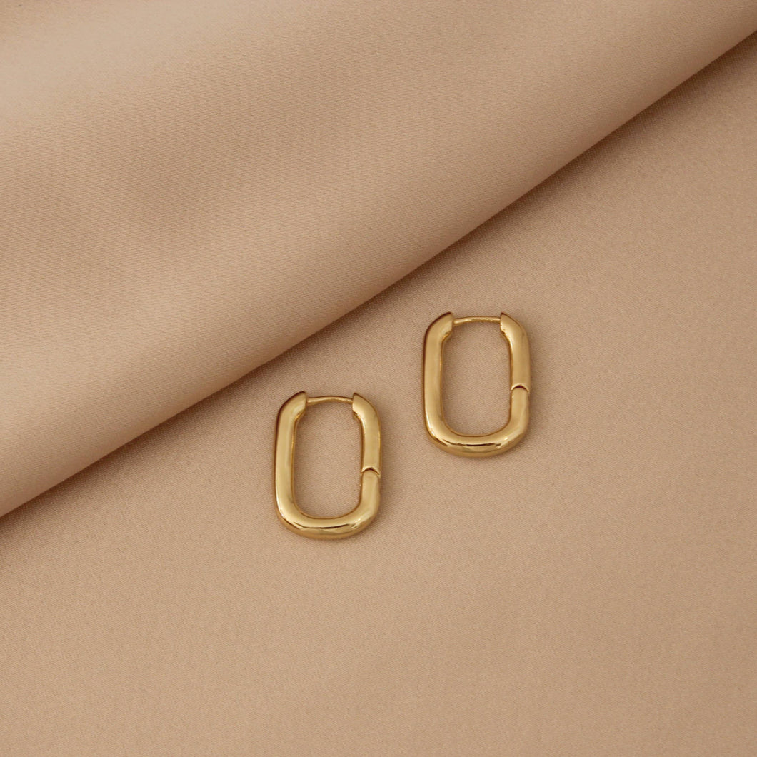 Box Gold Hoops