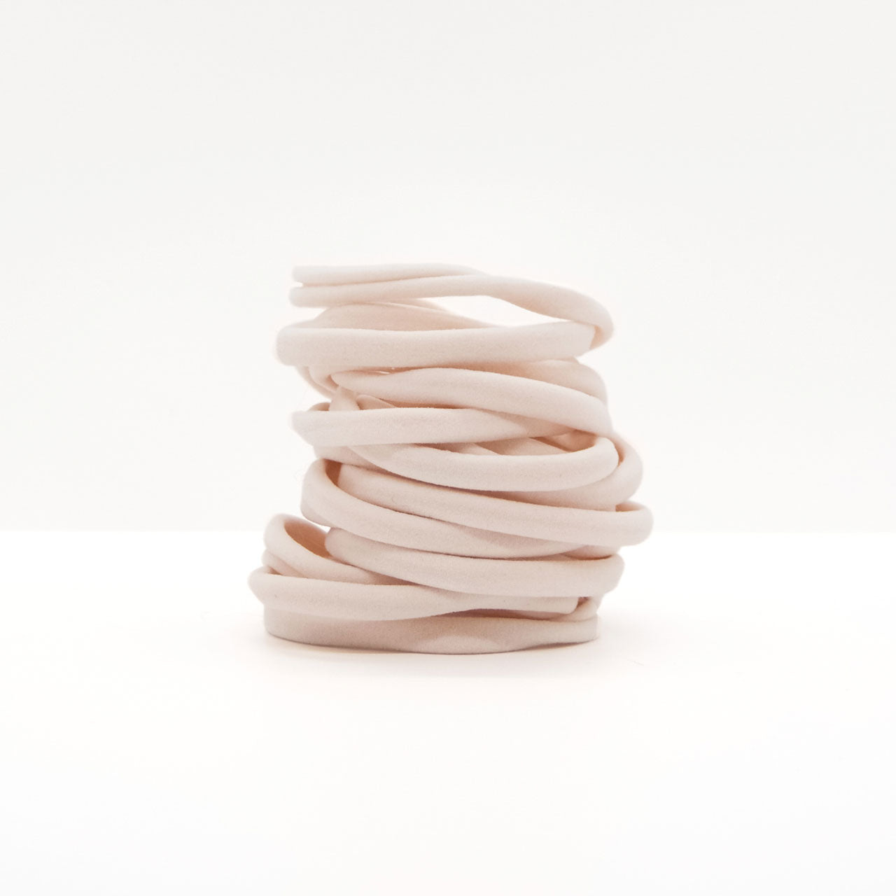 RECYCLED ELASTIC HAIR TIE - BLUSH