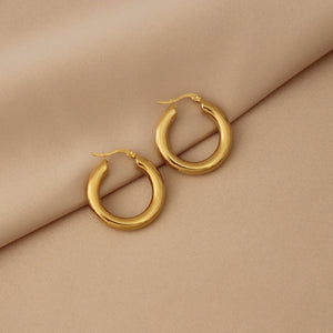PERFECT 14K GOLD PLATED HOOPS // LARGE