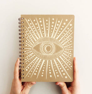 Seeing Eye Journal in Oak Brown