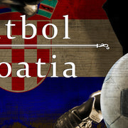 "12""x24""  Croatia  Futbol with Soccer Ball Kick Graphic Art Print on Wood"