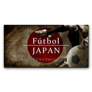 "12""x24""  Japan Futbol with Soccer Ball Kick Graphic Art Print on Wood"