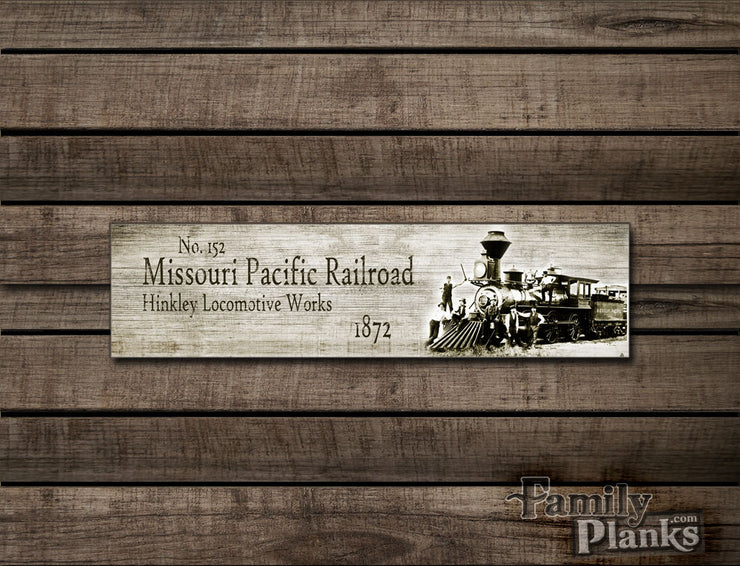 "8""x24""  Missouri Railroad Wood Plank Wall Art GG-13"
