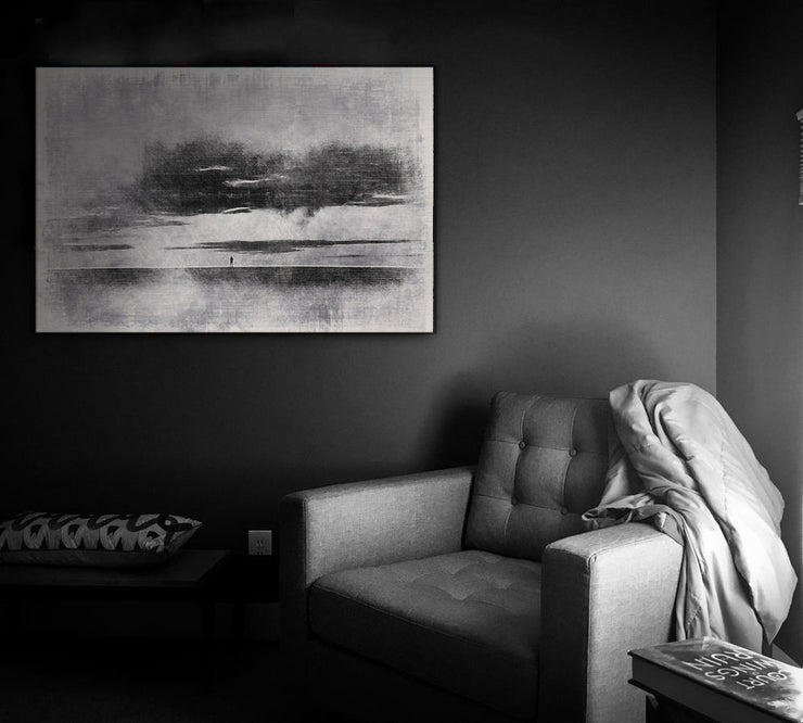 Image of  Isolation in Gray Art Print on Wood