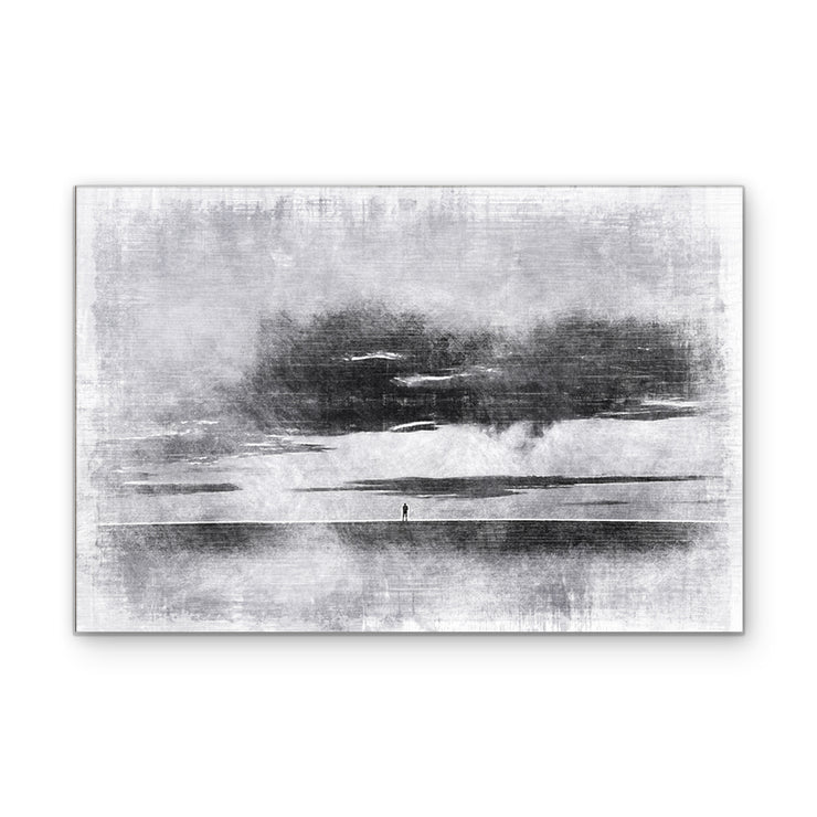 Isolation in Gray Art Print on Wood