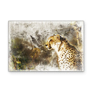 Jaguar in Mixed Media Art Print on Wood