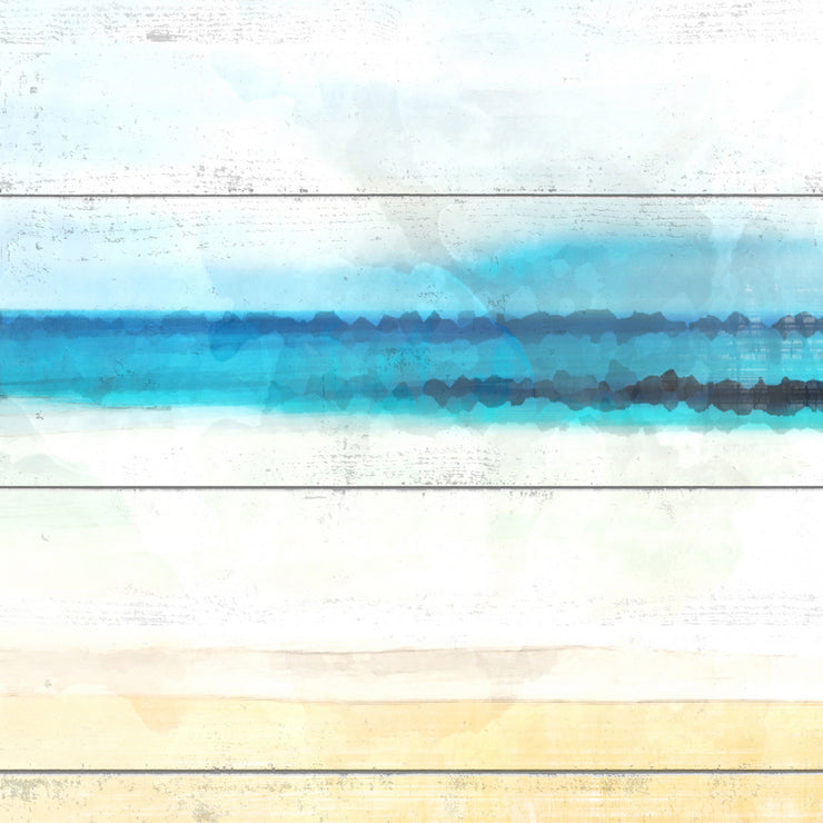 Abstract Aruba with Faux Plank Lines