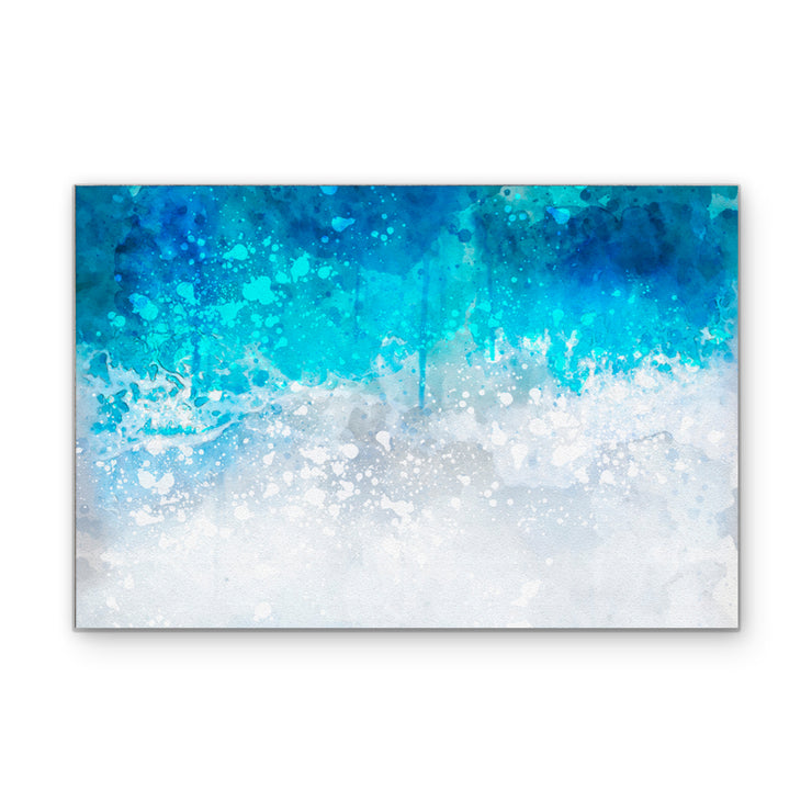 Aerial Aquatic Abstract II Art Print on Wood