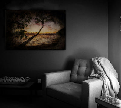 Image of  Nightfall in the Palms Art Print on Wood