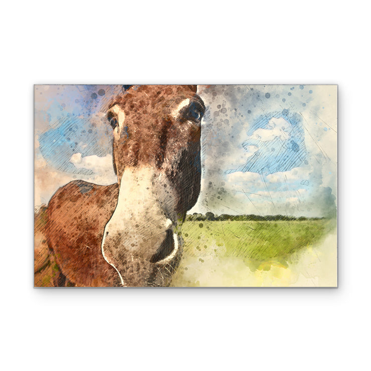Paint Your Donkey Art Print on Wood