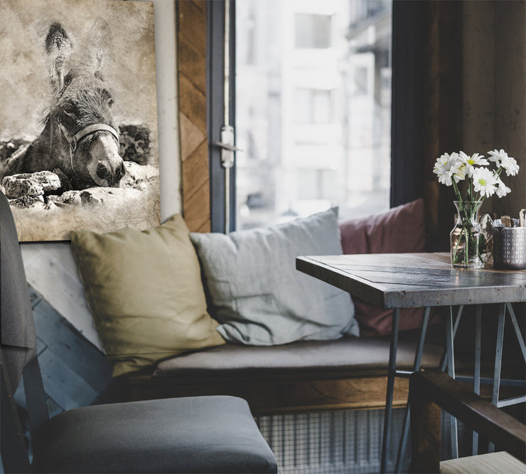 Image of  Vintage Mule Art Print on Wood