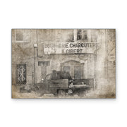Bygone Days European Vintage Photo Print on Wood