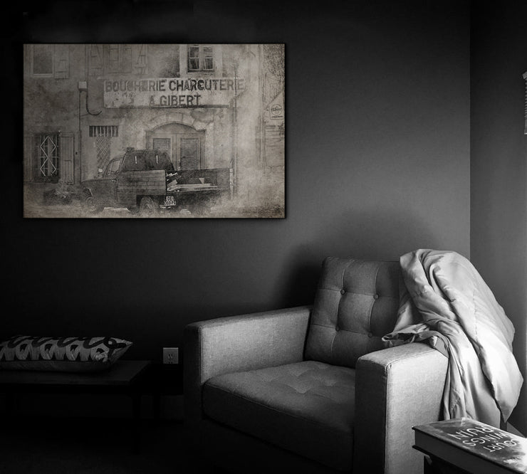 Image of  Bygone Days European Vintage Photo Print on Wood