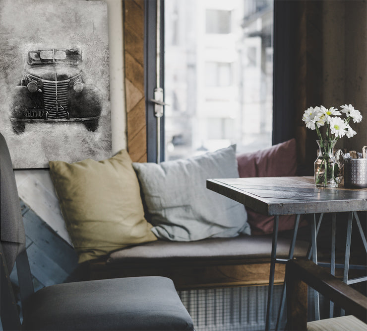 Vintage Truck Photo Print on Wood