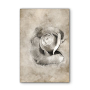 Vintage Rose Photo Print on Wood