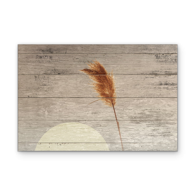 Strand of Wheat Art Print on Wood