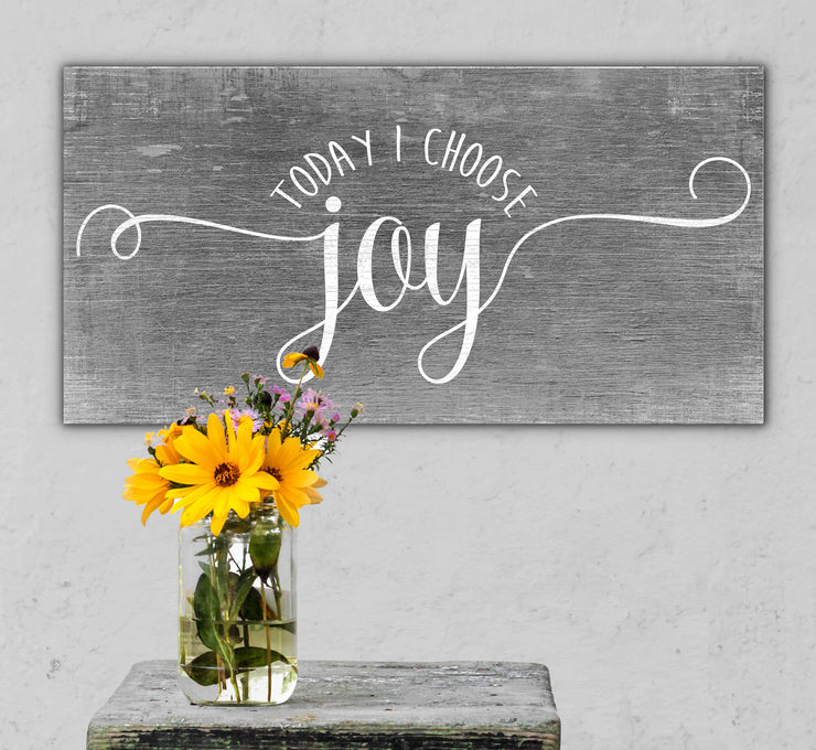 "12""x24"" I Choose Joy (light) Wood Plank GG-47"