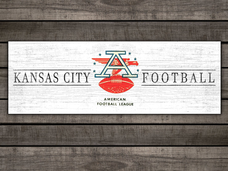 "Retro AFC Kansas City Football 8""x24"""