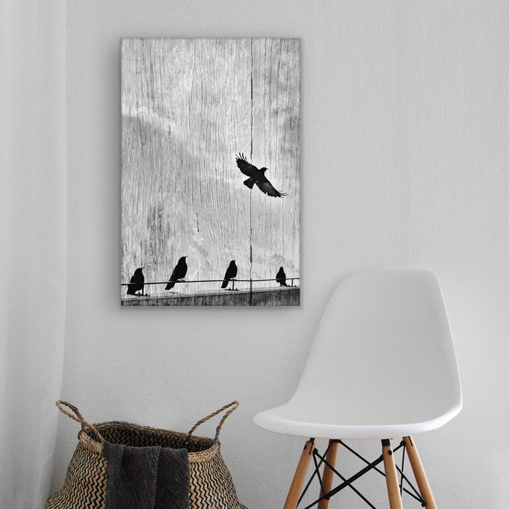 Image of  Hey! Where's she going?  Art Print on Wood