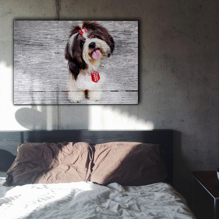Image of  All Kinds of Cute Art Print on Gray Wood