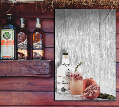 Image of  Refreshing Libation Art Print on Distressed Gray Wood Art Print