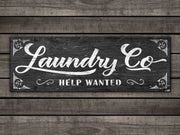 "8""x24""  Laundry Co Help Wanted Distressed Wood Plank"