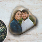 Photo on Rock, Wedding Photo on Stone, Wedding Stone Gift, Gift Rock, Gift for Boyfriend, Gift for Girlfriend, Gift for Wedding Couple