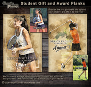 Student Gift and Award Planks