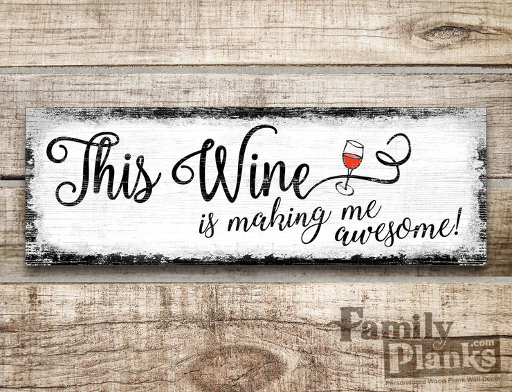 This Wine funny saying Wood Plank GG-44