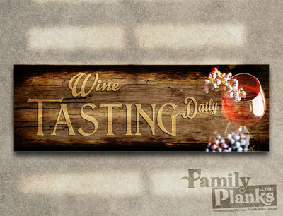 Wine Tasting Daily Wood Plank GG-45