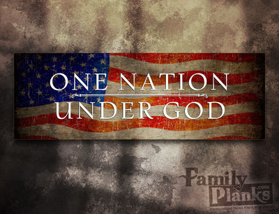 One Nation Under God Wood Plank GG-91