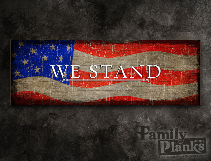 We Stand Wood Plank GG-96