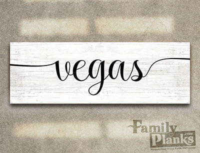 Vegas on a White-Washed Wood Plank GG-98