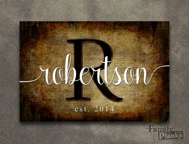 Personalized Family Name Wood Plank P73