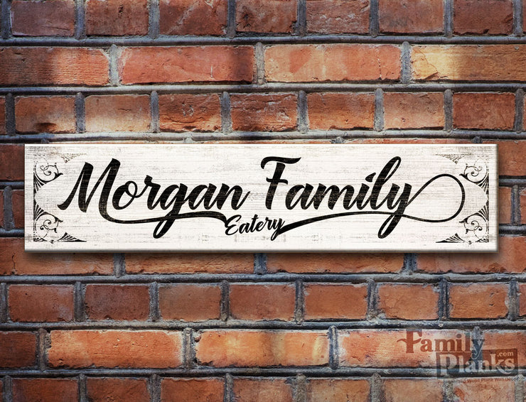 Personalized Family Name Reclaimed Pallet Plank SP-08