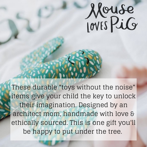 Mouse Loves Pig toys without the noise