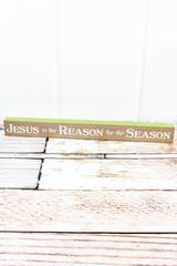 Jesus Is The Reason For Season Tabletop Block