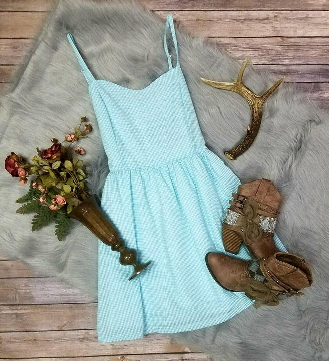 Teal Flare Dress